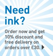 Need ink? Order now and get free delivery and 10% discount