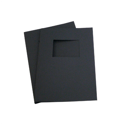 200 Full Card Window Thermal Document Covers - Black - A4 Portrait - 1.5mm (approx 15 A4 Sheets)