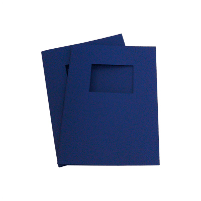 120 Full Card Window Thermal Document Covers - Dark Blue - A4 Portrait - 12mm (approx 120 A4 Sheets)