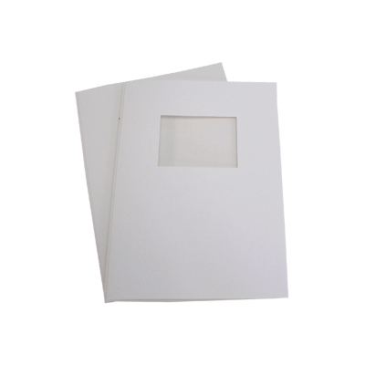 140 Full Card Window Thermal Document Covers - White - A4 Portrait - 9mm (approx 90 A4 Sheets)
